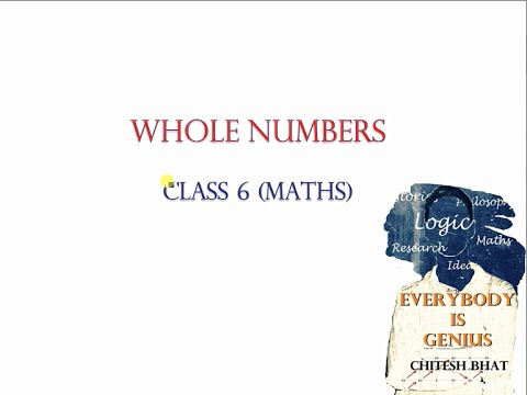 Whole Numbers (Class 6, Maths, CBSE, NCERT) - YouTube