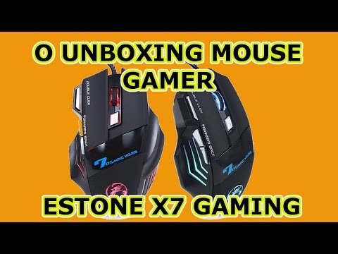 Unboxing Mouse Gamer Estone X7 Gaming