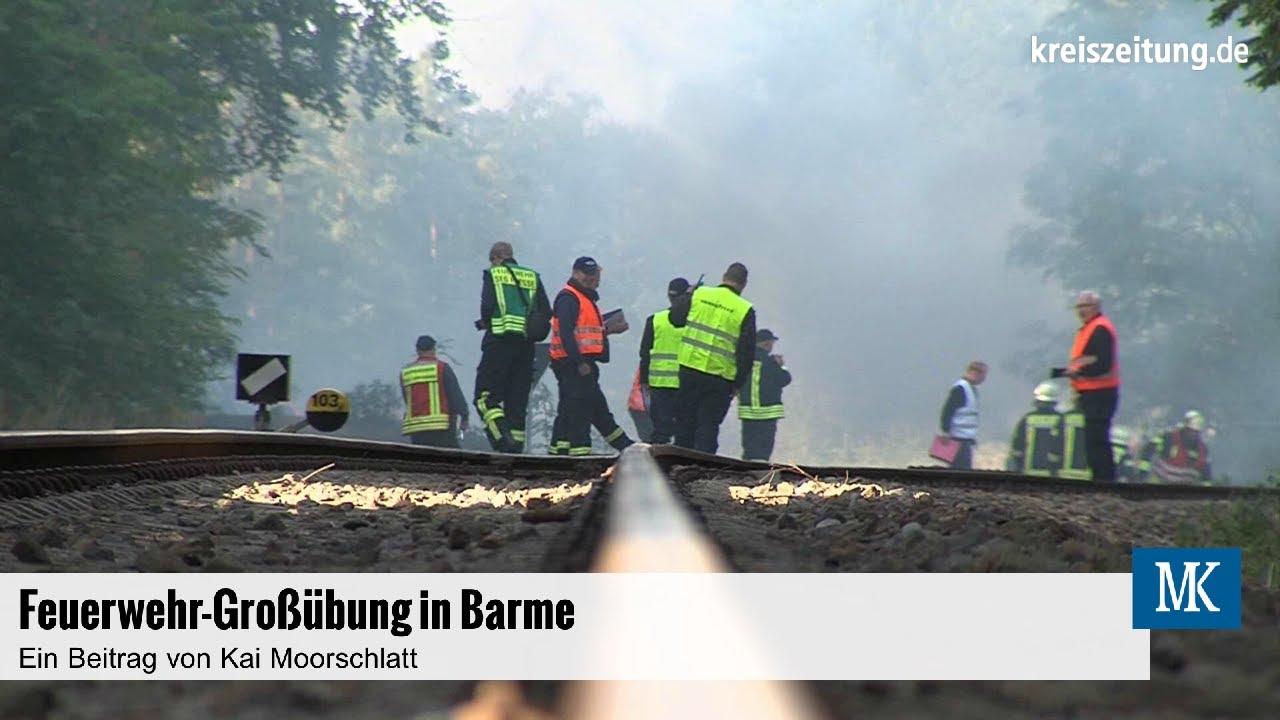 Feuerwehr-Großübung im Landkreis Verden