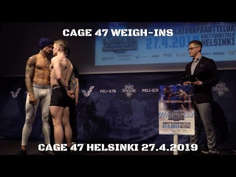 CAGE47Weigh-ins @ Casino Helsinki
