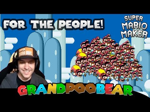 The People's Champion: For The People! 100 Man Super Expert Mario Maker