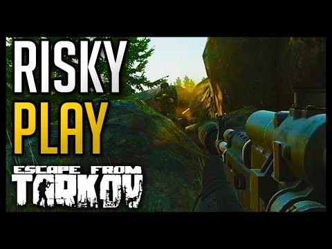 Escape from Tarkov - Risky Play vs 3 Heavily Geared PMC's