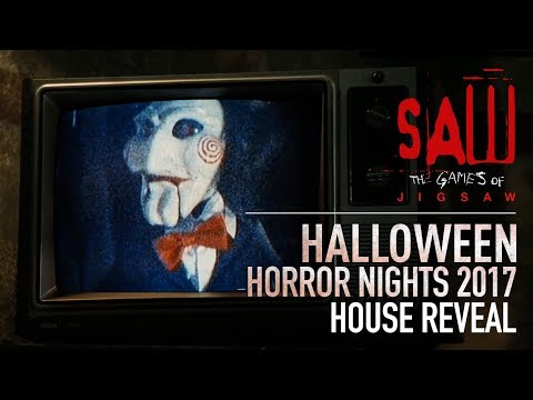 SAW: The Games of Jigsaw House Reveal   Halloween Horror Nights 2017