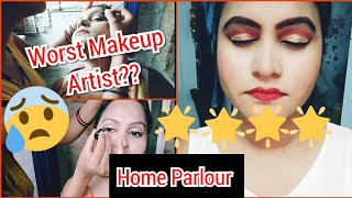 I Went To The Worst Reviewed Makeup Artist||Home Parlour