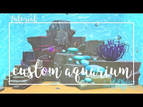 Custom Aquarium Setup | Tutorial  | The Sims 4 | w/CC + Down