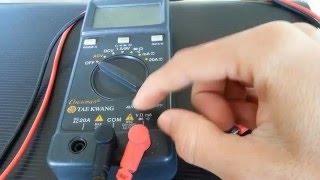 How to use Digital Mutilmeter …