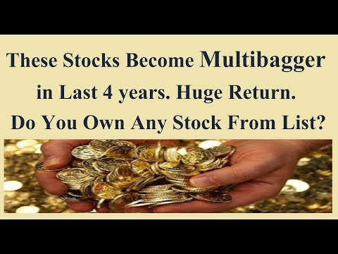 These Stocks Become Multibagger in 4 years.. Huge Wealth created by these stocks..
