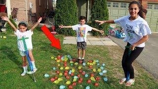 Kids BALLOON POP CHALLENGE! family fun video