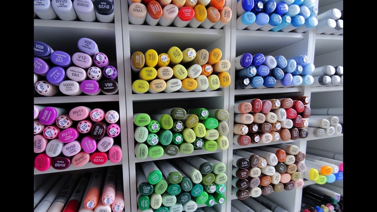 how i store copic markers youtube