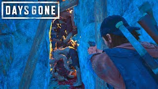 Days Gone - Eliminating A Cave Horde With The Best Pistol  Days Gone Free Roam Gameplay 30