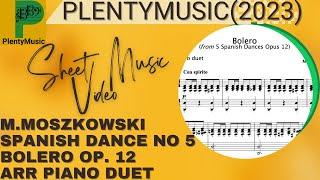 Moszkowski M. | Bolero from Spanish Dances Opus 12 arr. piano duet (piano 4 hands)