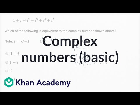 Complex Numbers — Basic Example | Math | New SAT | Khan Academy