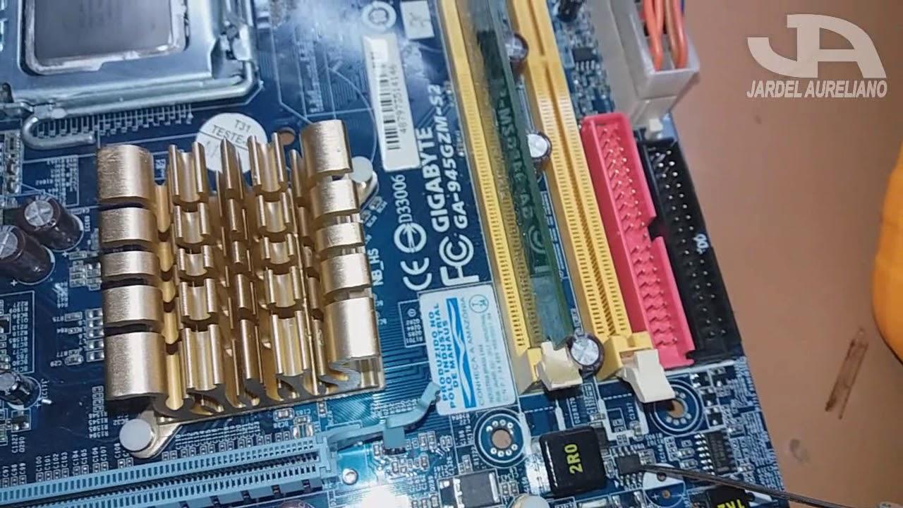 Placa mãe 775 pc gigabyte ga-vm800pmc + proc +ddr computador youtube.
