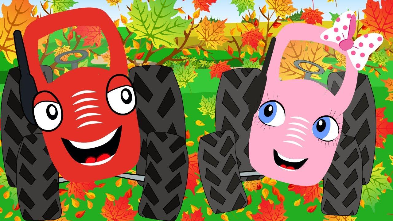 Песенки для детей - Тыр Тыр Трактор - Мультики про осень - Сборник