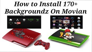 How to Change The Background On Movian / Showtime  170+ Images CFW / HFW / HEN / PS3 (2019)