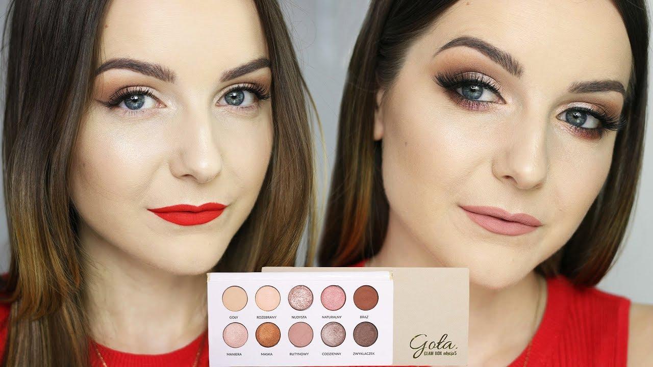 Makijaż Dzienny I Wieczorowy Paletą Glambox Goła Milena Makeup