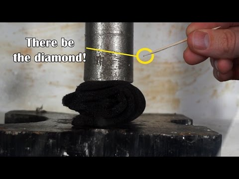 Can I Turn Graphite To Real Diamond With Hydraulic Press?