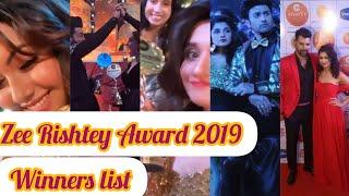 Zee Rishtey Award 2019 winners list|| Guddan tumse na hopayega got 4 awards😱||
