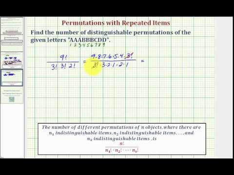 Permutations P(n,r) (solutions, examples, videos)