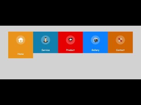 Html5 & Css3 Professional Horizontal menu-2 Part-03
