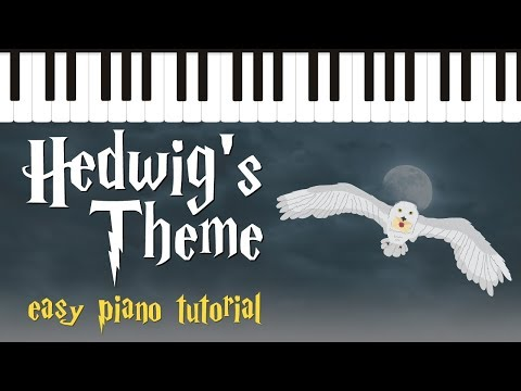 Hedwig's Theme from Harry Potter - Easy Piano Tutorial - Hoffman Academy