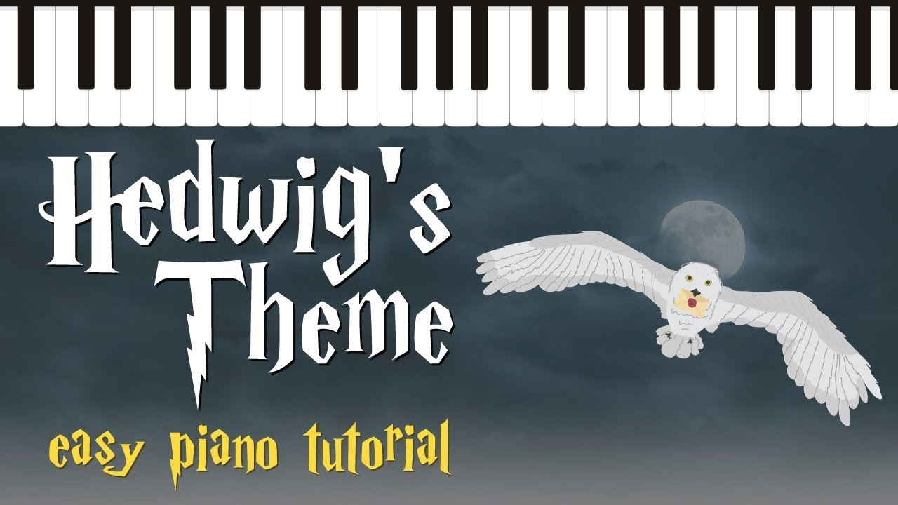 photograph relating to Harry Potter Theme Song Piano Sheet Music Printable Free titled Hedwigs Topic against Harry Potter - Simple Piano Information - Hoffman Academy