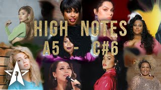 HIGHT NOTES/Vocal range||Belting notes - Famous female Singers