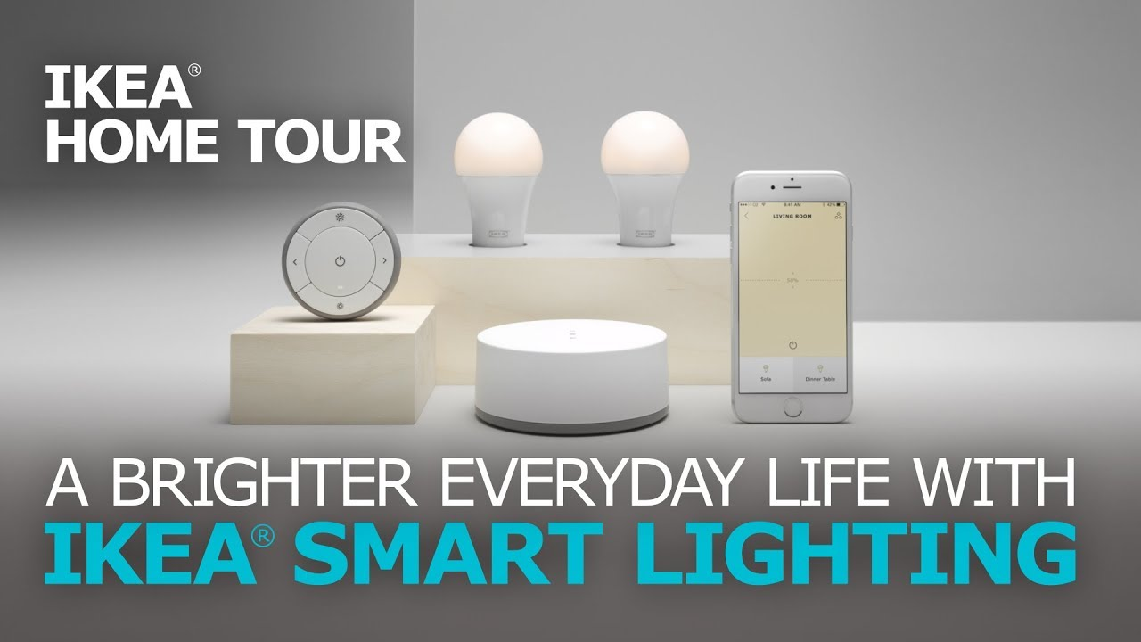 easy home automation with smart lights ikea home tour