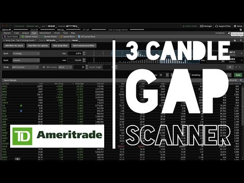 How To Step A Scanner On TD Ameritrade | 3 Candle Gap Scanner By Connor P