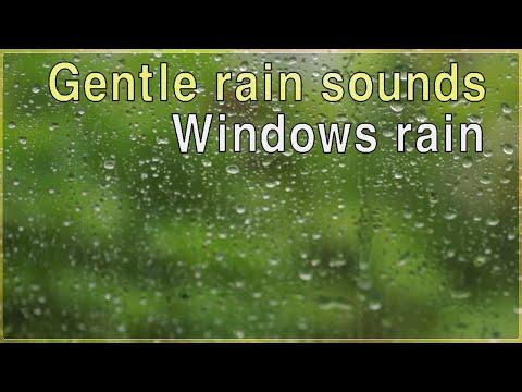 Doux pluie pour dormir 3 heures - fenêtres pluie