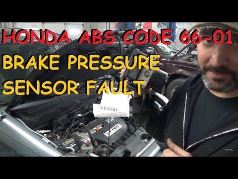 "Honda CRV - ABS / VSA ""Brake Pressure Sensor Malfunction"""
