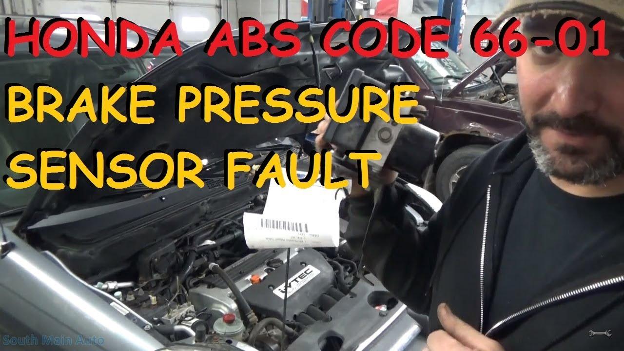 Honda crv abs vsa brake pressure sensor malfunction for Vsa honda crv