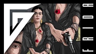"Digital speed painting -""FRIDA KAHLO PROFANED"" - time lapse video by GLOOMY STROKE. Painting art."