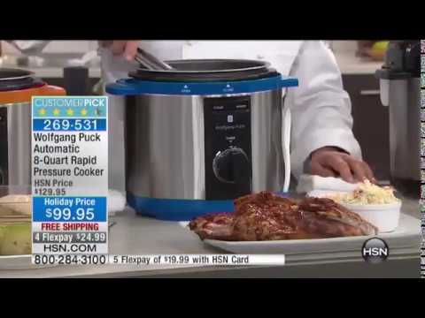 Wolfgang puck automatic quart rapid pressure cooker hsn also youtube rh