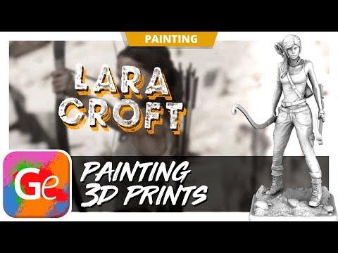 Lara Croft 3D Model - Painting by Gambody
