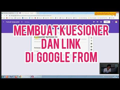 cara membuat kuesioner di google form
