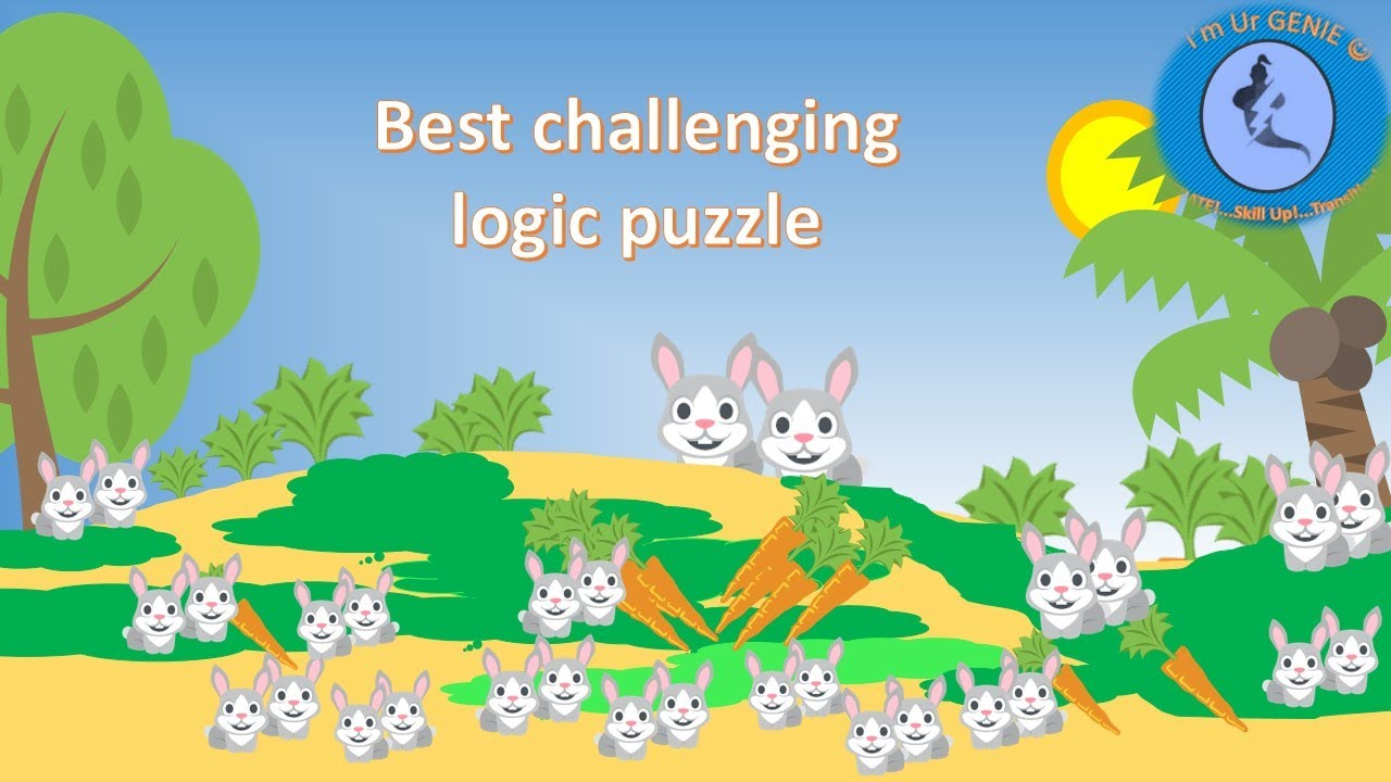 Rabbits and Fibonacci sequence| #SkillupwithGenie #brainteaser #logicpuzzle
