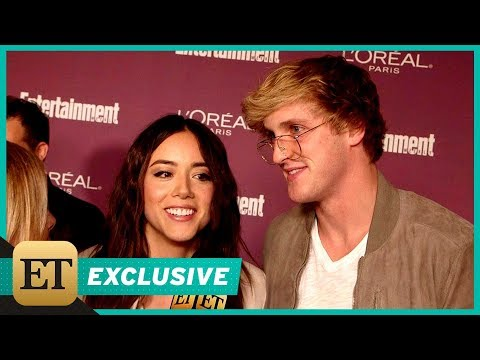 EXCLUSIVE: Logan Paul and Chloe Bennet are the Goofiest, Cutest Pair on the Red Carpet -- Watch!