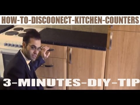 AWESOME DIY PROJECTS - HOW TO DISCONNECT AND REMOVE KITCHEN CABINETS COUNTER  COWBOYDIY.COM