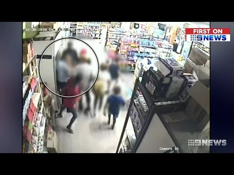 Aboriginal Family Rampage IGA. Shop Owner Seriously Charged.(WA)  Nine News