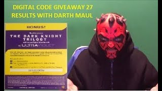 Digital Code Giveaway 27 Results with Darth Maul