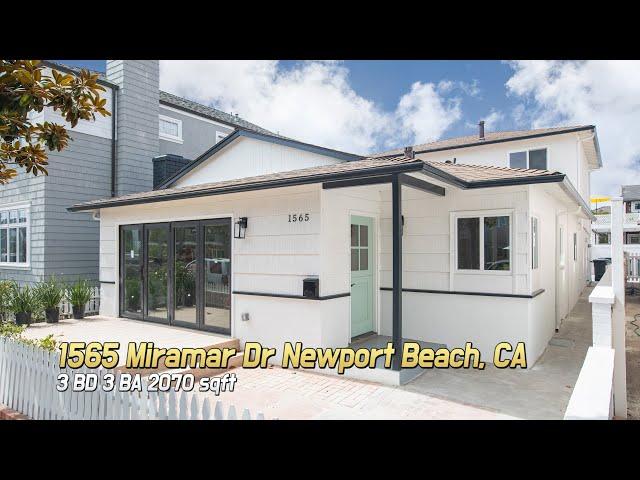 [Virtual Tour] 1565 Miramar Dr Newport Beach, CA