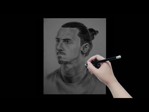Drawing Zlatan Ibrahimovic / Menggambar Zlatan Ibrahimovic