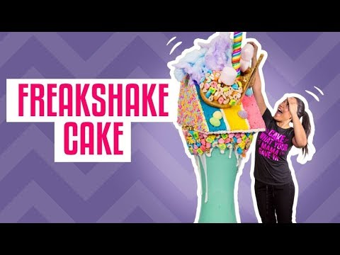 How To Make St Paddy's Day FREAKSHAKE CAKES  With LUCKY CHARMS  Yolanda Gampp  How To Cake It