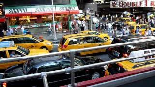 Traffic jam Times Square New York