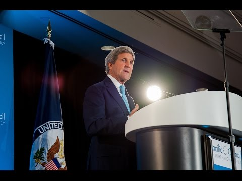 Secretary of State John F. Kerry Addresses Trade, Foreign Policy