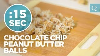 Chocolate Chip Coconut Peanut Butter Balls - #15secondrecipe