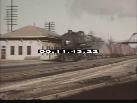 Trains - 1940s 1950s - Illinois Central - Steam - Diesel - Electric - Stock Footage - Best Shot
