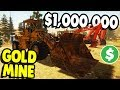 GIANT GOLD MINING EQUIPMENT & NEW MINE | Gold Rush: The Game Gameplay