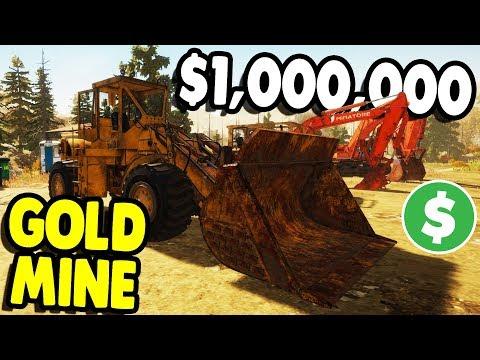 GIANT GOLD MINING EQUIPMENT & NEW MINE | Gold Rush: The Game Gameplay